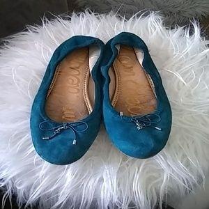 Sam Edelman aqua blue size 6 1/2 ballet flat